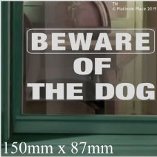1 x Beware of the Dog WINDOW Sticker-Adhesive Vinyl Sticker-Security Warning Sign Home or Business Sign